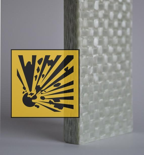 Schutz vor Splitter bei Explosion und Ansprengung